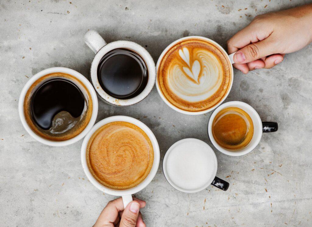 Forskellige kaffetyper