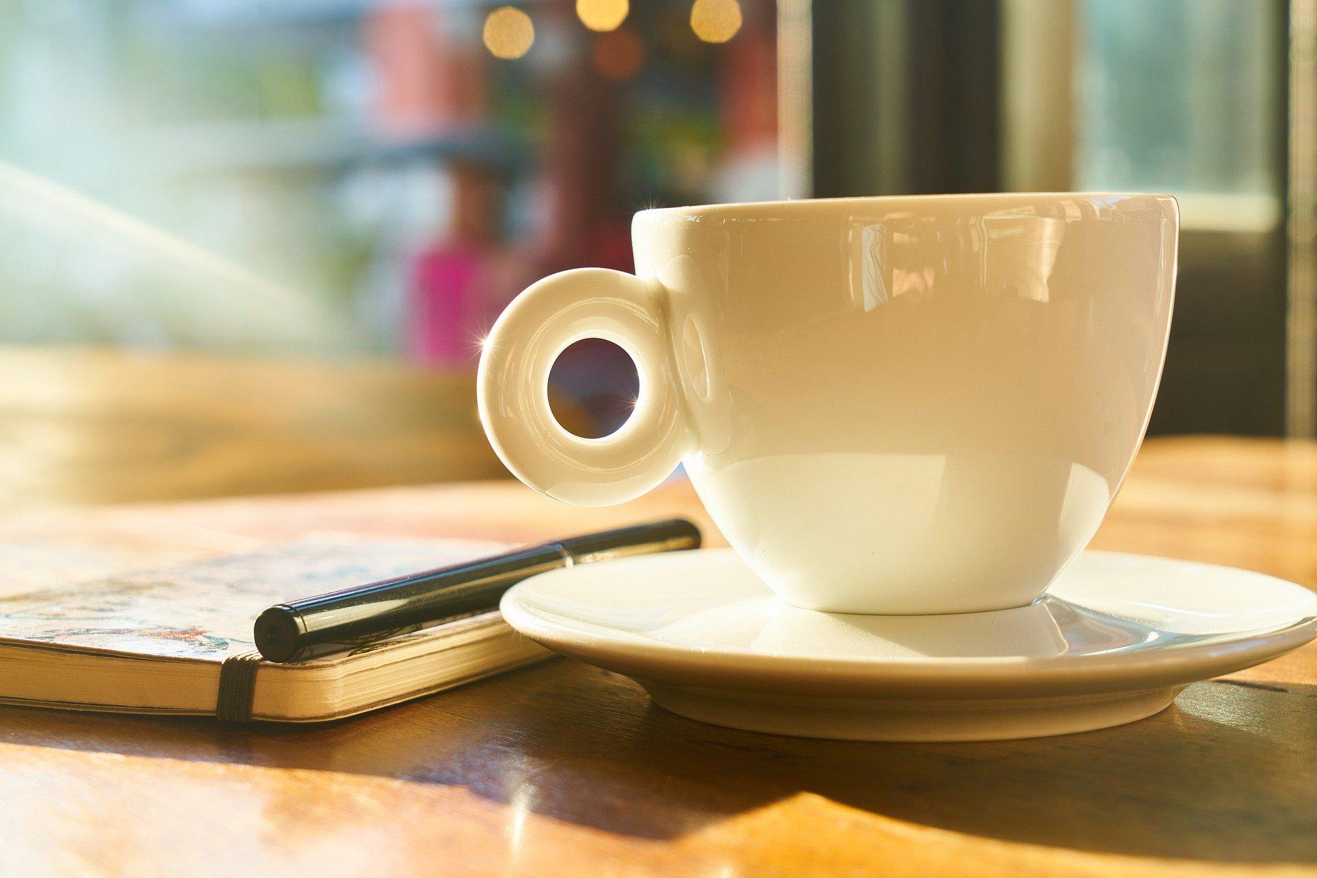 Kaffe og skrivning