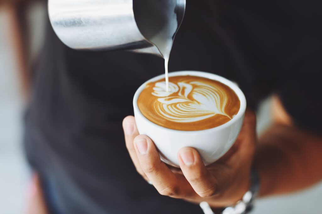 Kaffe er populært